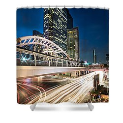 Bangkok Night Rush  Shower Curtain