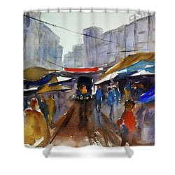 Bangkok Street Market Shower Curtain