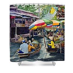Bangkok's Floating Market Shower Curtain