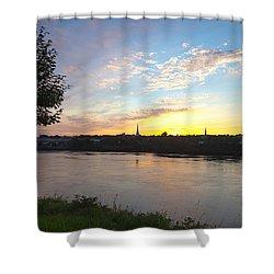 Bangor Sunset Shower Curtain