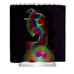 Banished By Light Shower Curtain by Xn Tyler