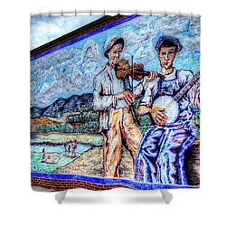 Banjo Mural Shower Curtain by Dale R Carlson