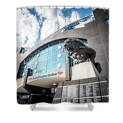Bank Of America Stadium Carolina Panthers Photo Shower Curtain by Paul Velgos
