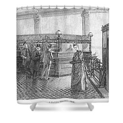 Banking, 19th Century Shower Curtain by Granger