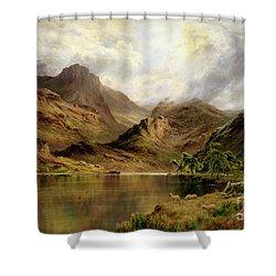 Banks Of Arrochar Shower Curtain by Alfred de Breanski