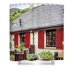 Shower Curtain featuring the photograph Banks Of Loch Lomond by Wallaroo Images