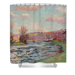Banks Of The Creuse Shower Curtain by Jean Baptiste Armand Guillaumin