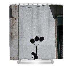 Banksy 3 Shower Curtain