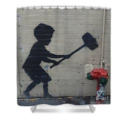 Banksy In New York Shower Curtain