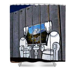 Banksy The View Shower Curtain