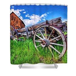 Bannack Wagon Shower Curtain