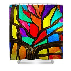 Banyan Tree Abstract Shower Curtain