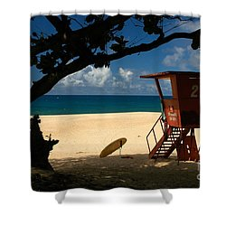 Banzai Beach Shower Curtain