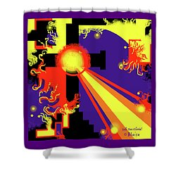 Baptism Of Fire Shower Curtain