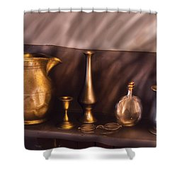 Bar - Ready For A Drink Shower Curtain by Mike Savad