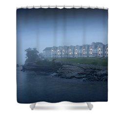 Bar Harbor Inn - Stormy Night Shower Curtain by Brendan Reals