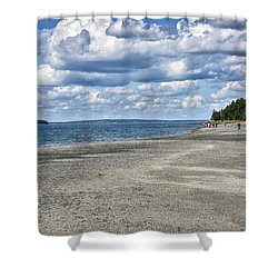 Bar Harbor - Land Bridge To Bar Island - Maine Shower Curtain