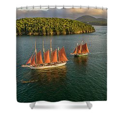 Sailing Thru Life The Downeast Way Shower Curtain