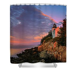 Bar Harbor Light Shower Curtain