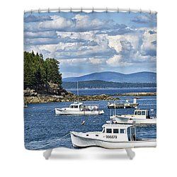 Bar Harbor Lobster Boats - Frenchman Bay Shower Curtain
