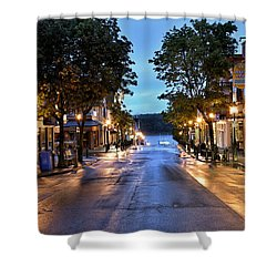 Bar Harbor - Main Street Shower Curtain