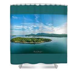 Bar Island, Bar Harbor  Shower Curtain