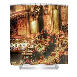 Shower Curtain featuring the photograph Bar Scene by Marianne Dow