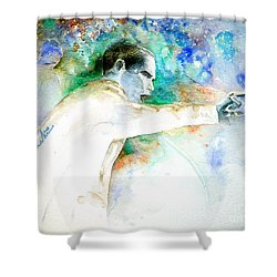 Barack Obama Pointing At You Shower Curtain by Miki De Goodaboom