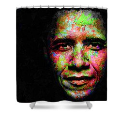 Barack Obama Shower Curtain by Svelby Art