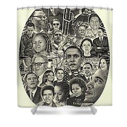 Barack Obama- Time For Change Shower Curtain
