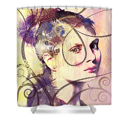 Barbara Blue Shower Curtain