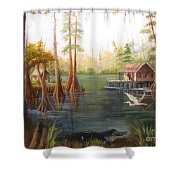 Barbara's Bayou II Shower Curtain