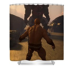 Barbarian Versus Orc... Shower Curtain