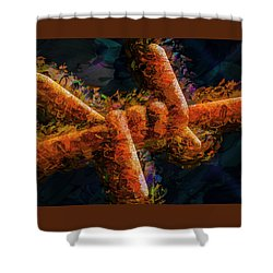 Barbed Shower Curtain by Paul Wear