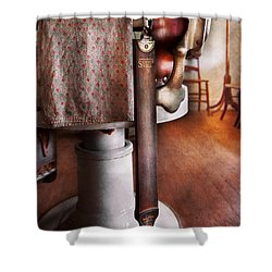 Barber - The Strop Shower Curtain by Mike Savad