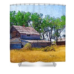 Shower Curtain featuring the photograph Barber Homestead by Susan Kinney