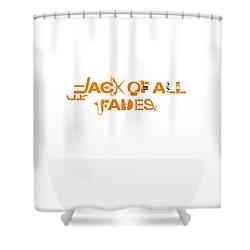 Barber In Orange Shower Curtain