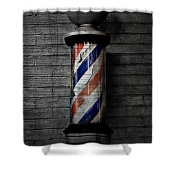 Barber Pole Blues  Shower Curtain