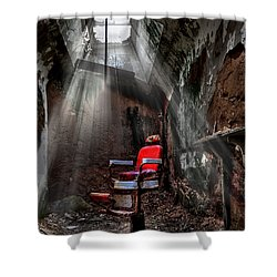 Barber Shop Shower Curtain by Evelina Kremsdorf