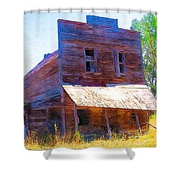 Shower Curtain featuring the photograph Barber Store by Susan Kinney