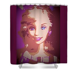 Barbie Hip To Be Square Shower Curtain