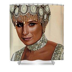 Barbra Streisand 2 Shower Curtain by Paul Meijering