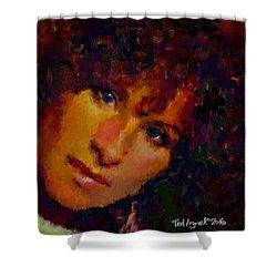 Barbra Streisand Shower Curtain by Ted Azriel