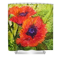 Barbs Poppies Shower Curtain