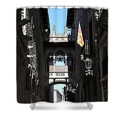 Shower Curtain featuring the photograph Barcelona 1 by Andrew Fare