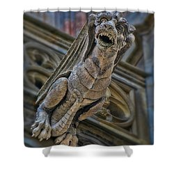 Barcelona Dragon Gargoyle Shower Curtain by Henry Kowalski