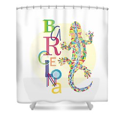 Barcelona Lizard Shower Curtain