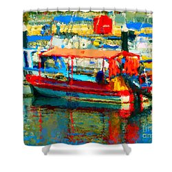 Barco En Cabo Marina Shower Curtain by Gerhardt Isringhaus