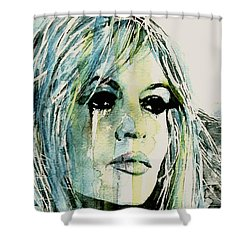 Shower Curtain featuring the painting Bardot by Paul Lovering