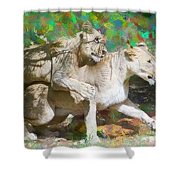 Shower Curtain featuring the painting Bare Back by Judy Kay
